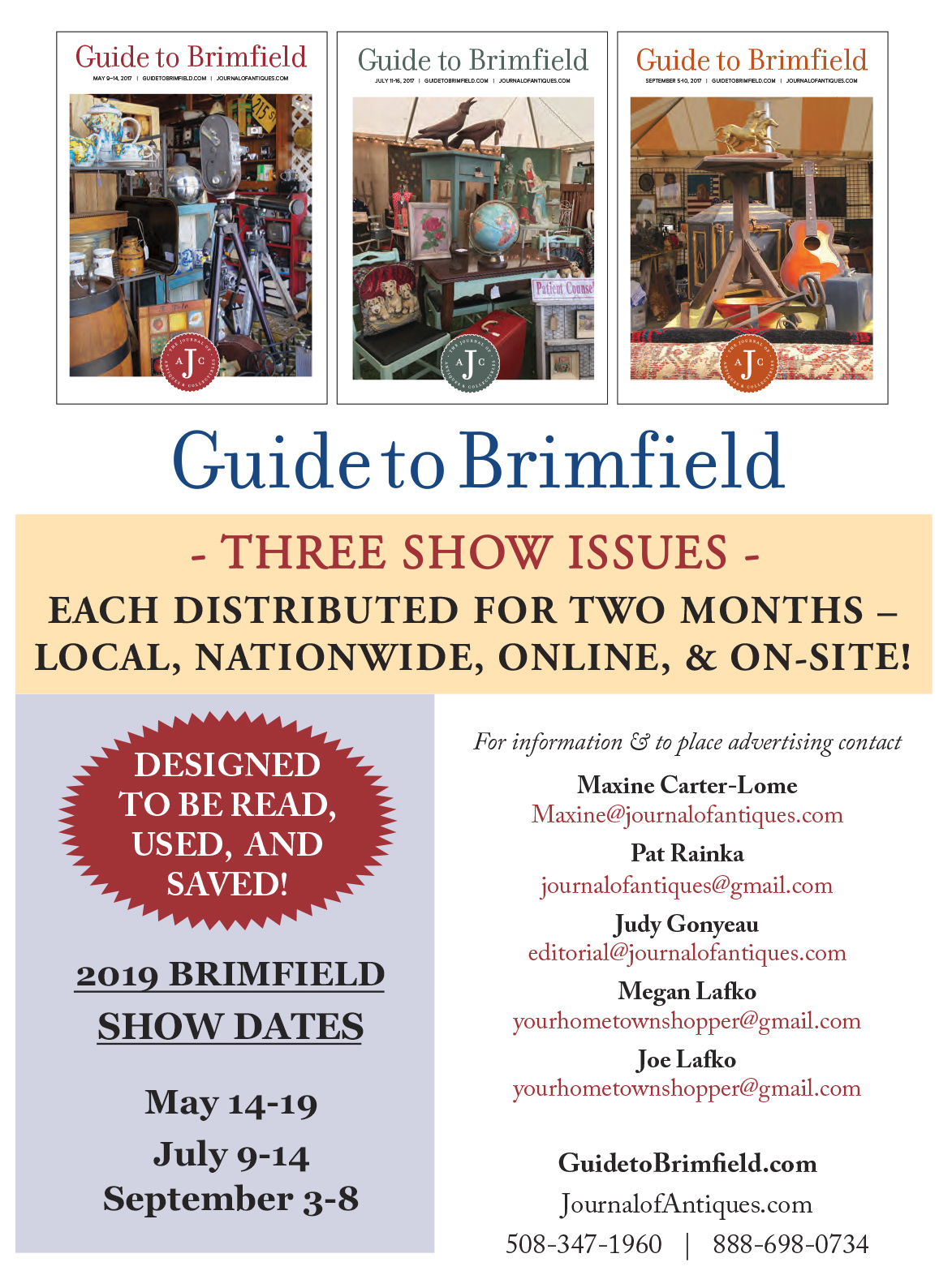 Guide To Brimfield - Advertise